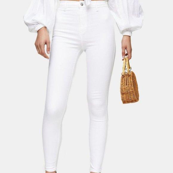 Topshop Joni white Skinny Jeans